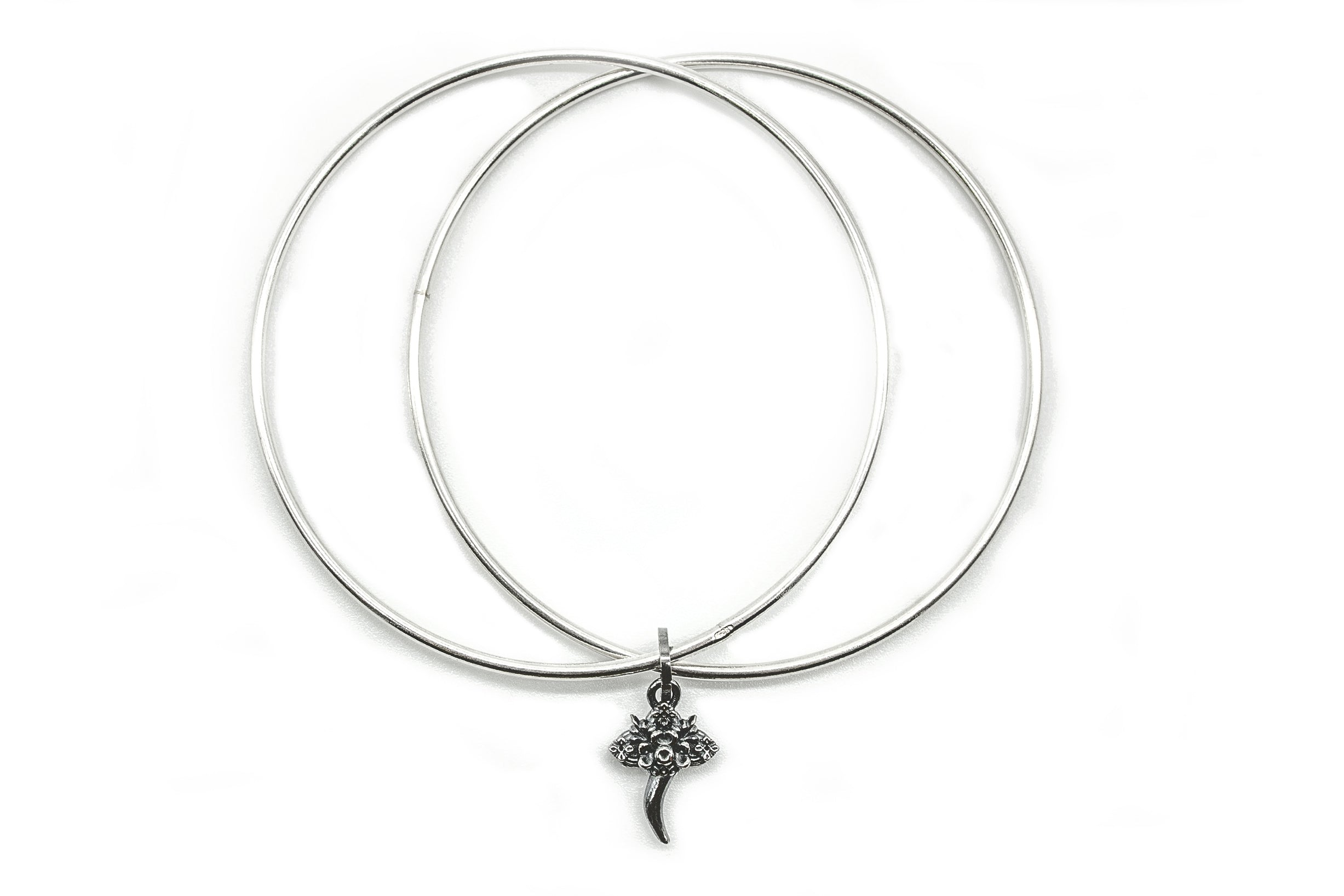 Bangle doppio con Charm