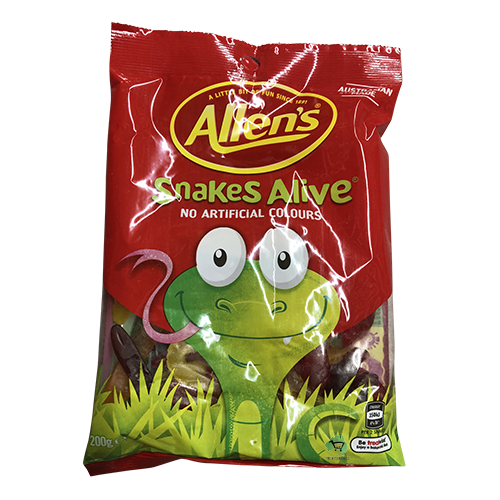 Allen's Snakes Alive Jelly Lolly Bag 200g