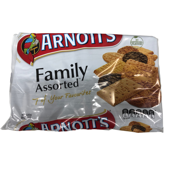 Arnotts Family Assorted 500g