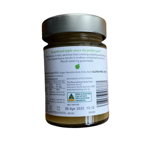 Beerenberg Apple Sauce 160g