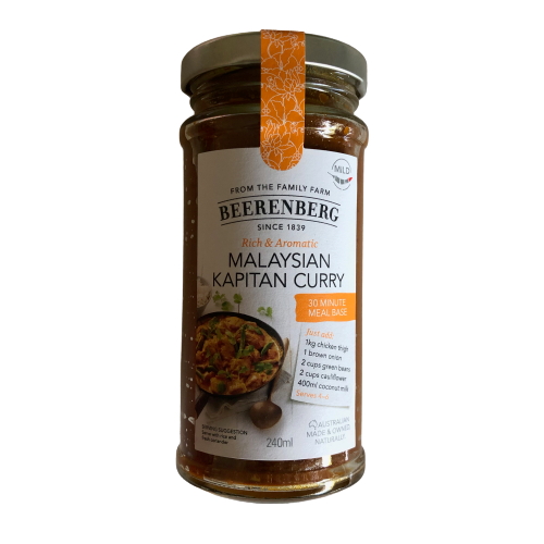 Beerenberg Malaysian Kapitan Curry - 30 minute meal base 240ml