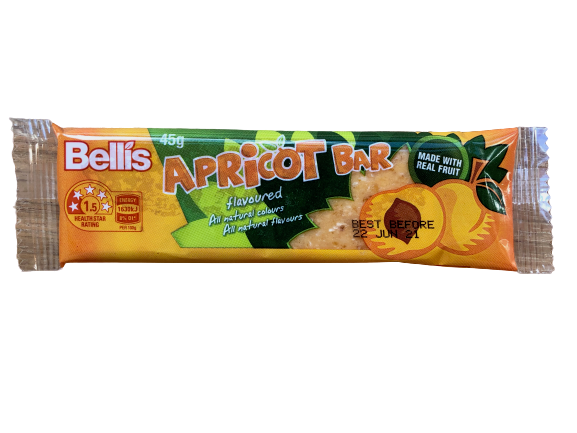 Bellis Apricot Bar 45g