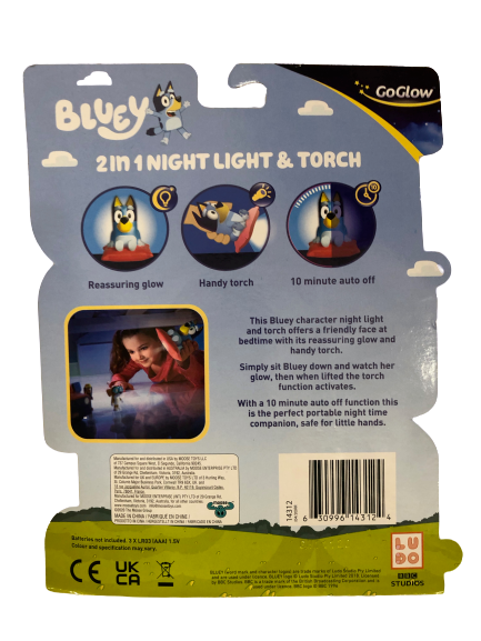 Bluey 2 in 1 Night Light & Torch