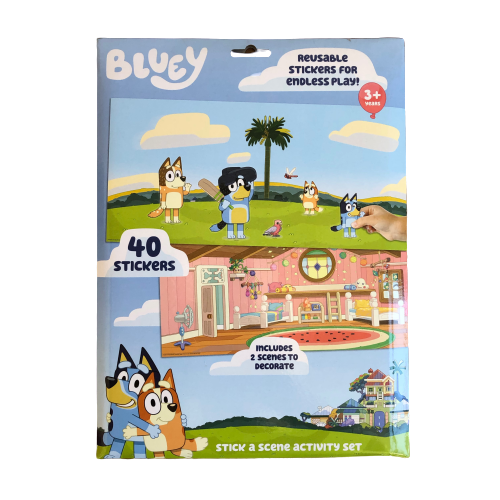 Bluey Stick a Scene Activity Set 40 stickers + 2 scenes