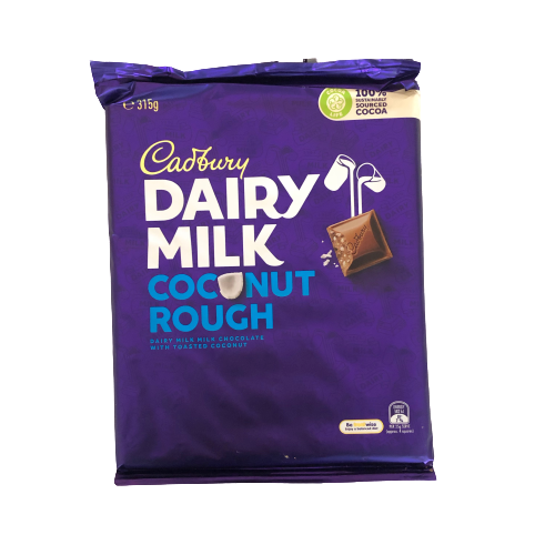 Cadbury Coconut Rough Family Block 350g