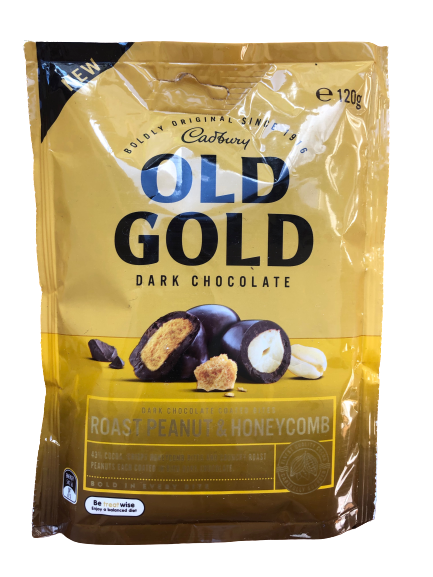Old Gold - Roasted Peanuts & Honeycomb 120g