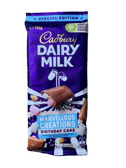 Cadbury Dairy Milk Marvellous Creations Birthday Cake Chocolate Block 190g
