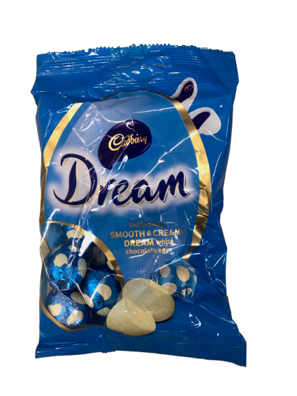 Cadbury Dream White Chocolate Mini Egg Bag 110g