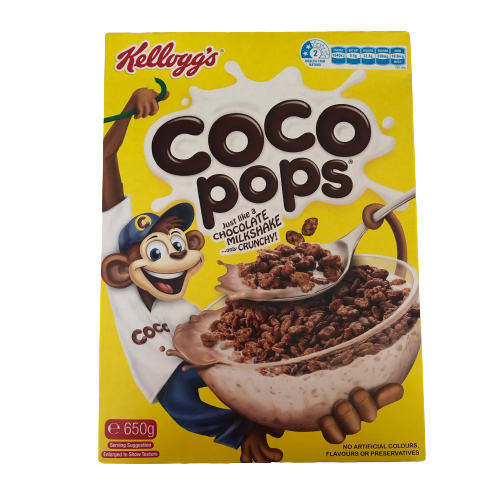 Kellogg's Coco Pops Chocolatey Breakfast Cereal 650g