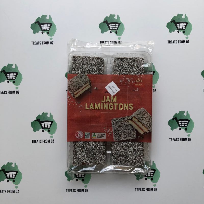 Coles Jam Lamingtons - 6 pack - 350g