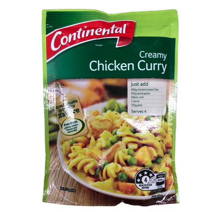Continental Creamy Chicken Curry