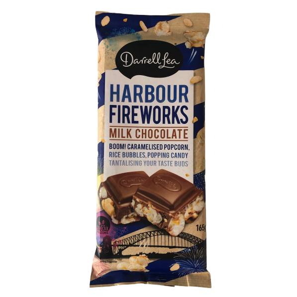 Darrell Lea - Harbour Fireworks Chocolate Block 165g