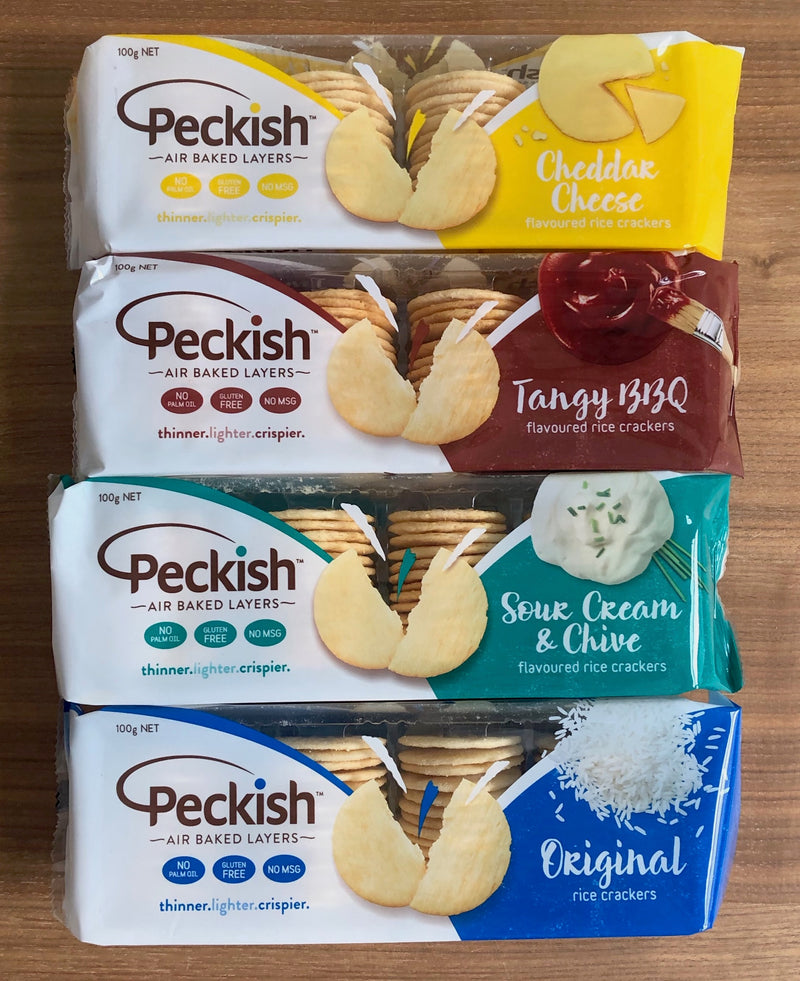 Peckish Rice Crackers (4 Flavour Options)