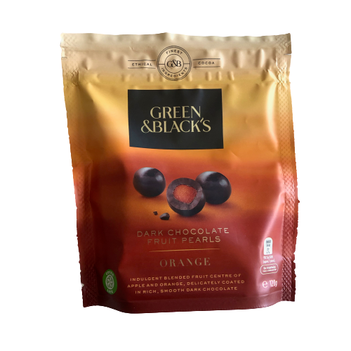 Green & Black's Dark Chocolate Fruit Pearls - Orange