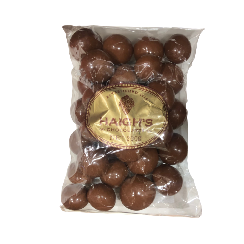 Haighs Milk Chocolate Macadamias 200g