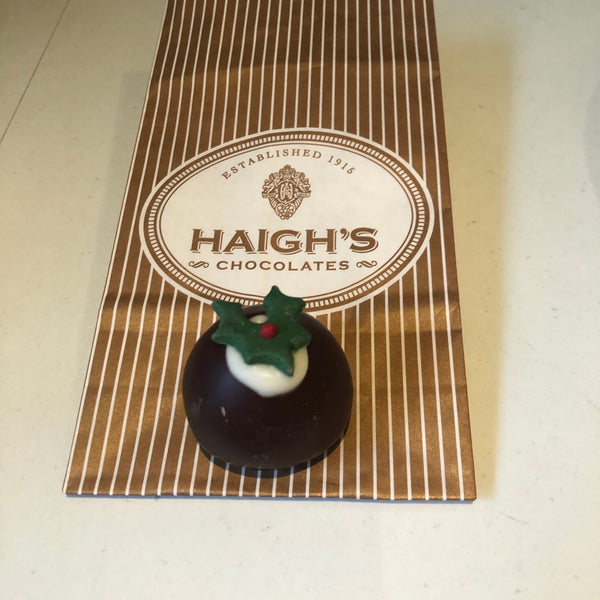 Haighs Dark Christmas Pudding Brandy Truffles 150g (6 pcs)
