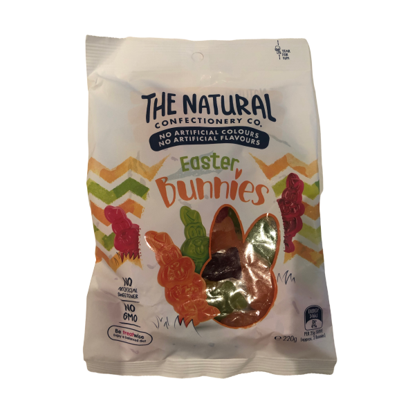 The Natural Confectionery Co Easter Bunnies 220g bag