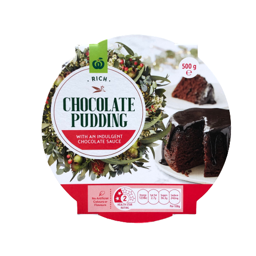 Woolworths Rich Chocolate Pudding 500g
