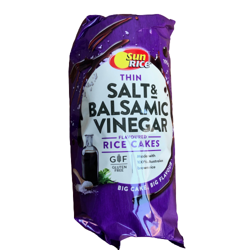 Sunrice Thin Salt & Balsamic Vinegar flavoured rice cakes 195g