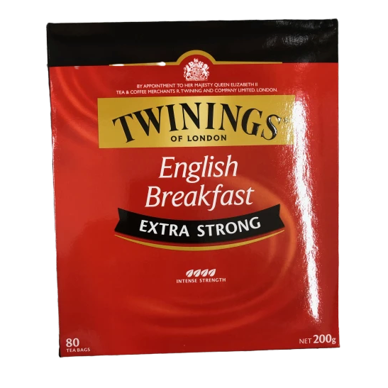 Twinings English Breakfast - 80 teabags - Extra Strong - 200g