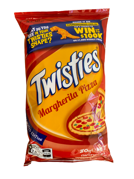 Twisties Margherita Pizza 80g