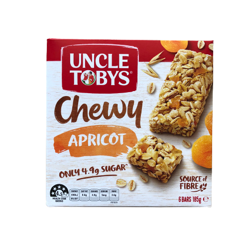 Uncle Tobys - Muesli Bar Chewy Apricot 185g