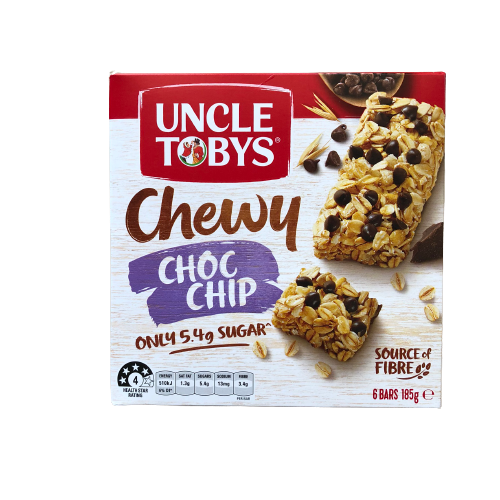 Uncle Tobys - Muesli Bar Chewy Choc Chip 185g