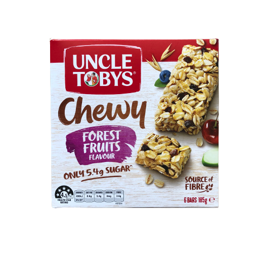 Uncle Tobys - Muesli Bar Chewy Forest Fruits 185g