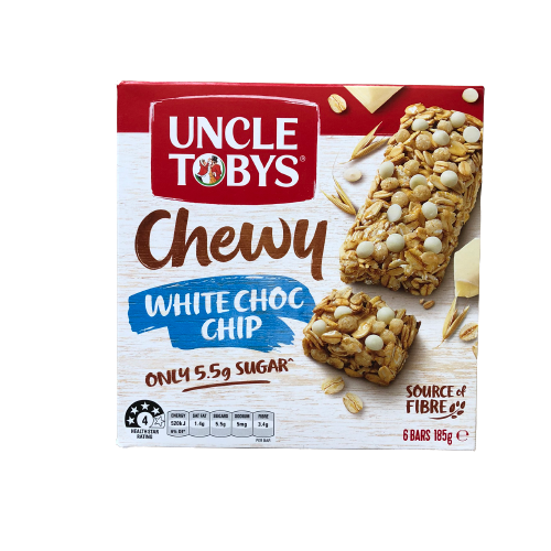 Uncle Tobys - Muesli Bar Chewy White Choc Chip 185g