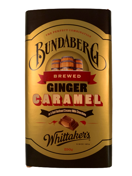 Whittaker's Ginger Caramel Milk Chocolate Block 250g