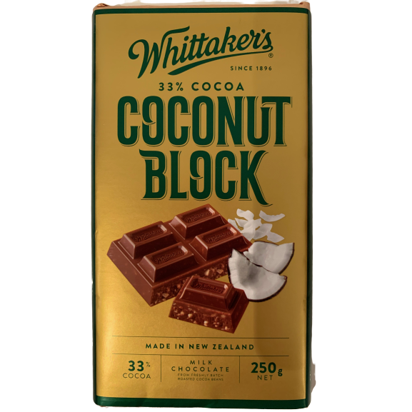 Whittaker's Coconut Chocolate Block 250g