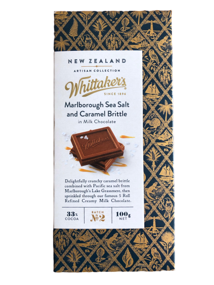 Whittaker's Marlborough Seat Salt and Caramel Brittle in Milk Choc 100g