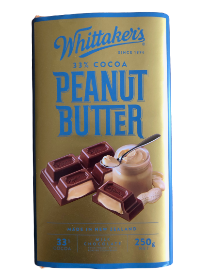 Whittaker's Peanut Butter Milk Chocolate Block 250g