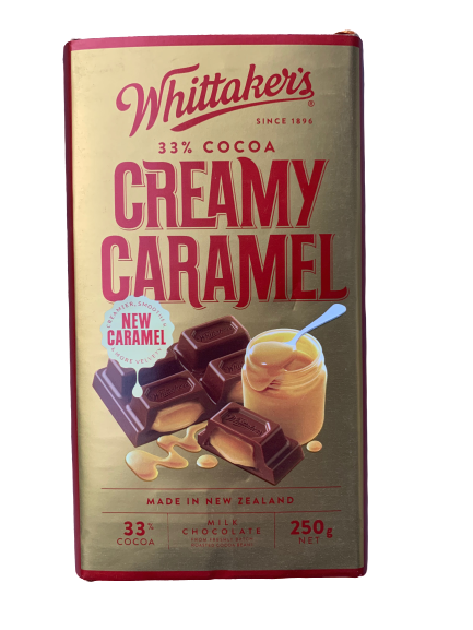 Whittaker's Creamy Caramel Milk Chocolate Block 250g