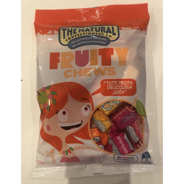 The Natural Confectionery Co Fruity Chews 220g bag