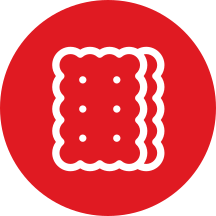 Snack biscuit icon