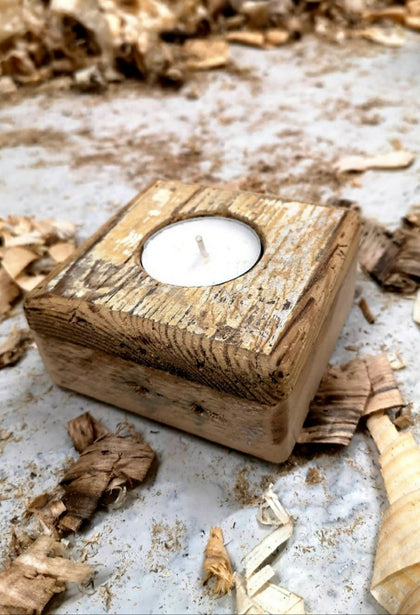 Wood Block T-Lights