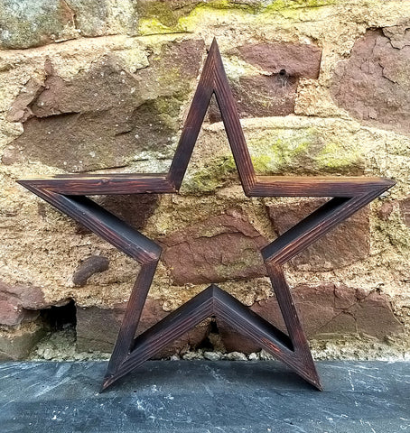 Scorched wood star