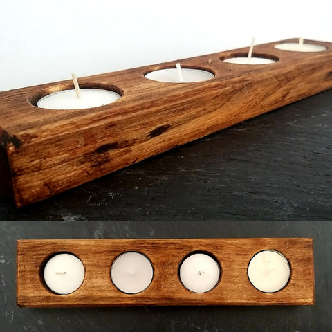 4LB T-Light (reclaimed dark brown wood)