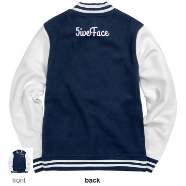 Fleece Letterman Varsity Jacket - 5iveFace