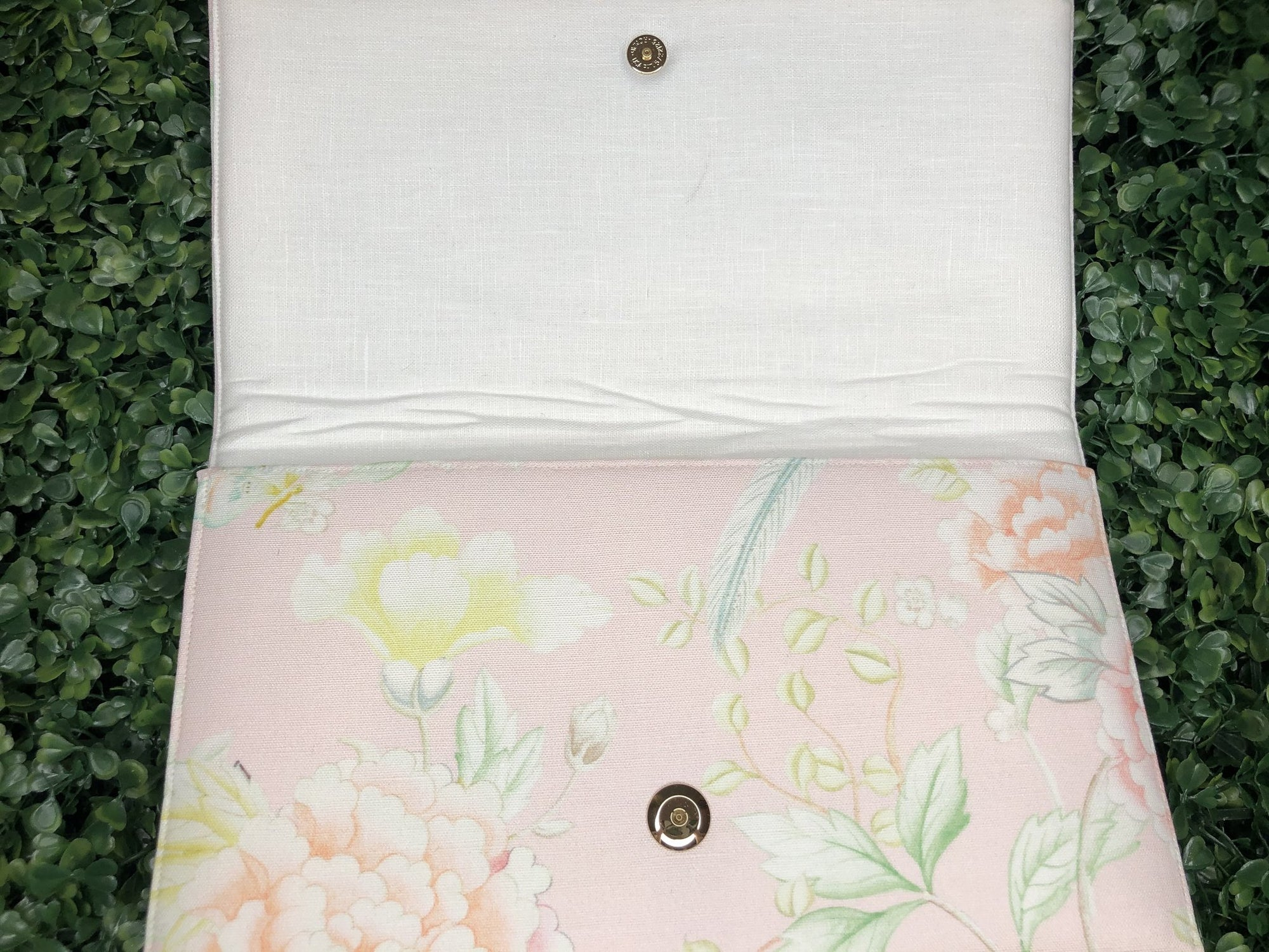 Pink Chinoiserie Bridesmaid Clutch