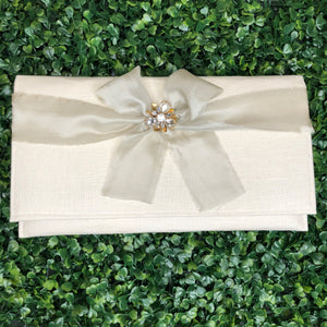 Bridal Ribbon Bag - Ivory