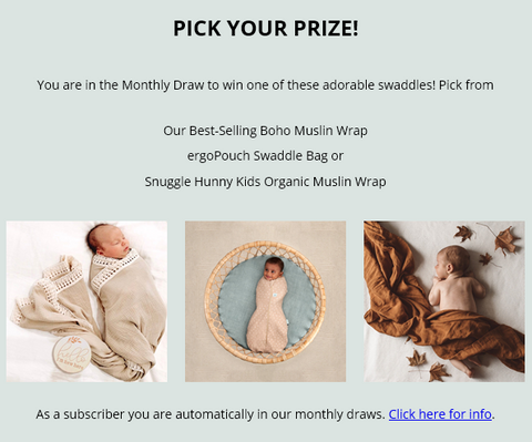 Monthly Prizes to Win!
