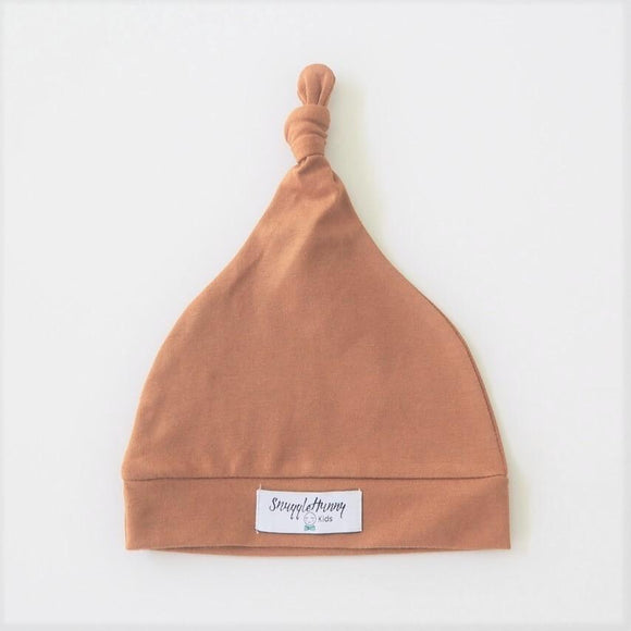 Knotted Beanie in Bronze by Snuggle Hunny Kids - Mama Kisses