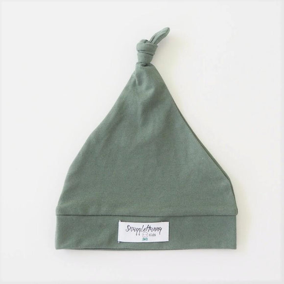Knotted Beanie in Olive by Snuggle Hunny Kids - Mama Kisses