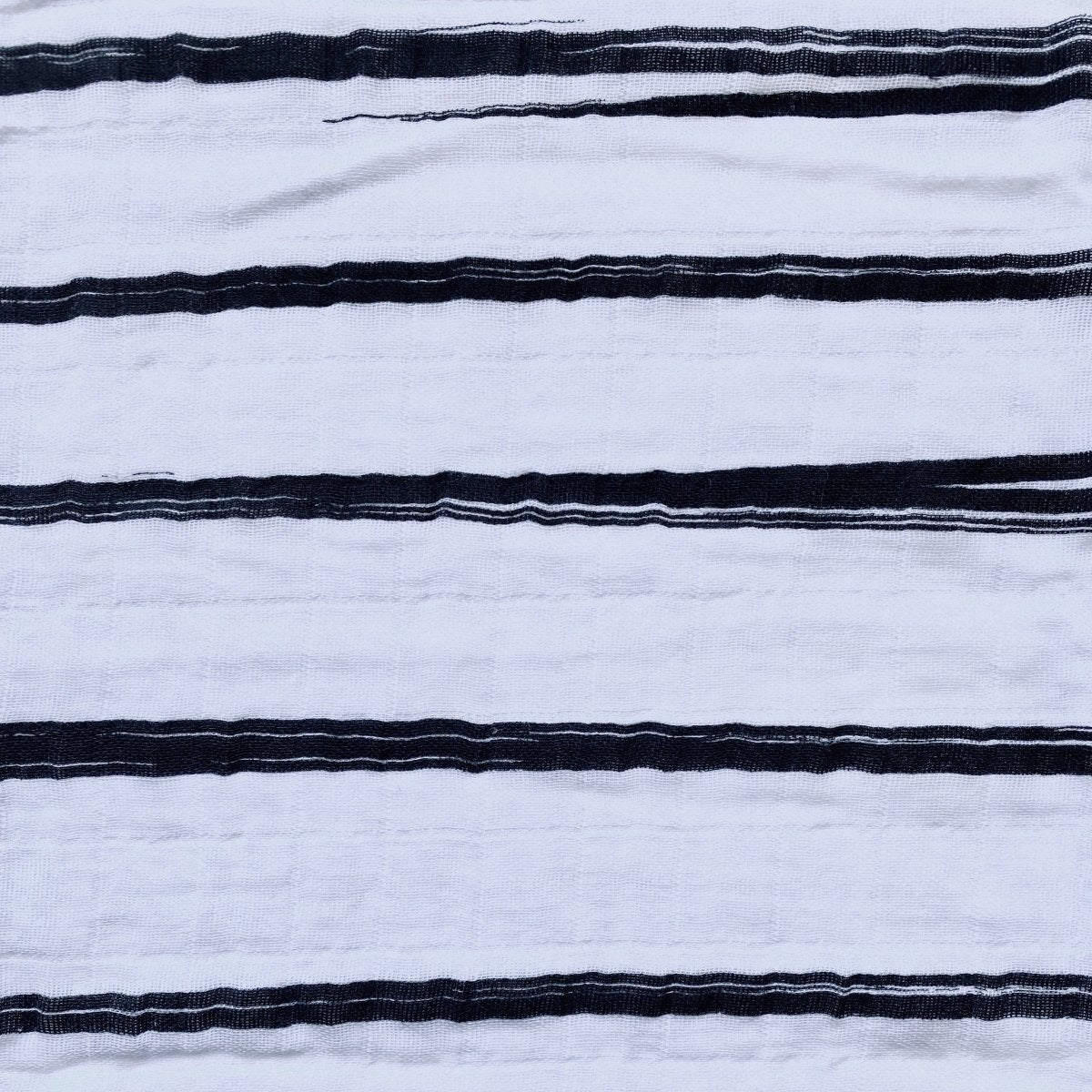 Large Organic Cotton Baby Muslin Swaddle/Wrap - Black streaks - Mama Kisses