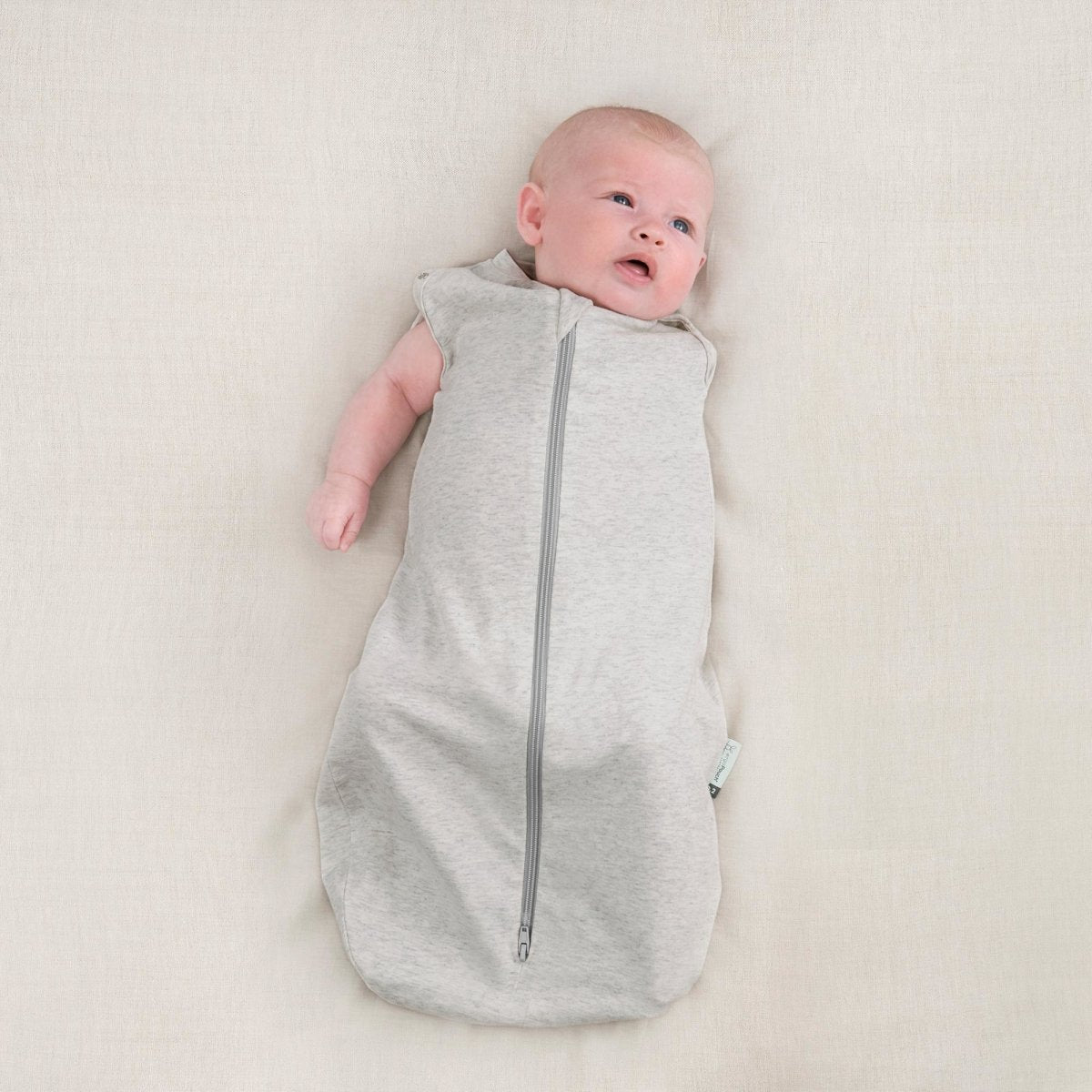 Organic Cocoon Swaddle Bag 0.2 TOG ergoPouch - Grey Marle - Mama Kisses
