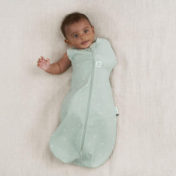 Organic Cocoon Swaddle Bag 0.2 TOG ergoPouch - Sage - Mama Kisses