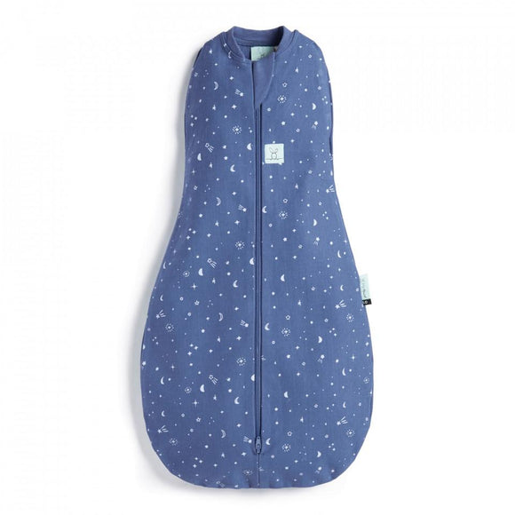 Organic Cocoon Swaddle Bag 1.0 TOG ergoPouch - Nigh Sky - Mama Kisses