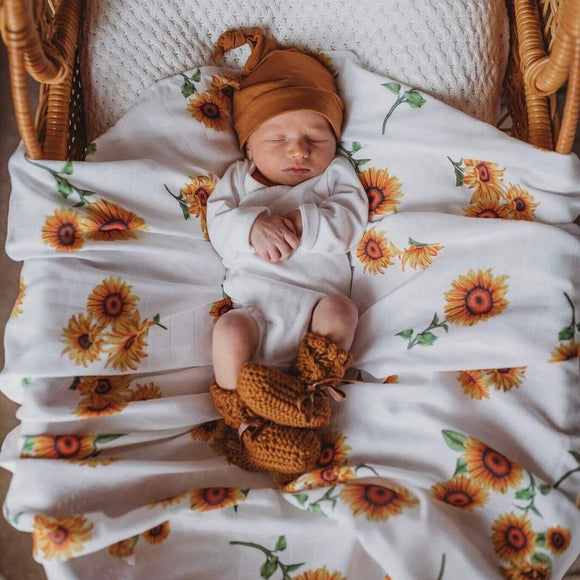 Organic Muslin Wrap Snuggle Hunny Kids Sunflower - Mama Kisses